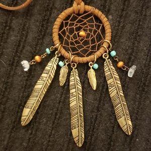 🥳Leather / Beaded Native Dream-Catcher
